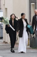 VANESSA and STELLA HUDGENS Out in Beverly Hills 11/12/2017