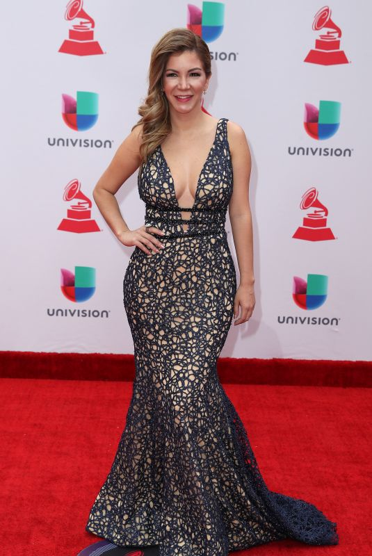 VANESSA ANEZ at Latin Grammy Awards 2017 in Las Vegas 11/16/2017
