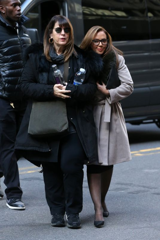 VANESSA HUDGENS and LEAH REMINI Arrives on the Set of Second Act in New York 11/20/2017