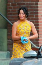 VANESSA HUDGENS on the Set of Dog Days in Los Angeles 11/03/2017