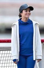 VANESSA HUDGENS on the Set of Second Act in New York 11/27/2017