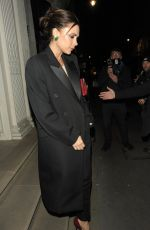 VICTORIA BECKHAM Laves her Store at Dover Street in London 11/28/2017