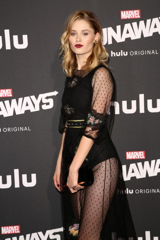VIRGINIA GARDNER at Runaways Premiere in Los Angeles 11/16/2017