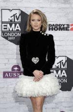 ZARA LARSSON at 2017 MTV Europe Music Awards in London 11/12/2017