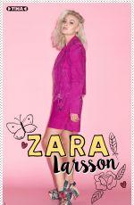ZARA LARSSON in Tina Magazine, Netherlands November 2017
