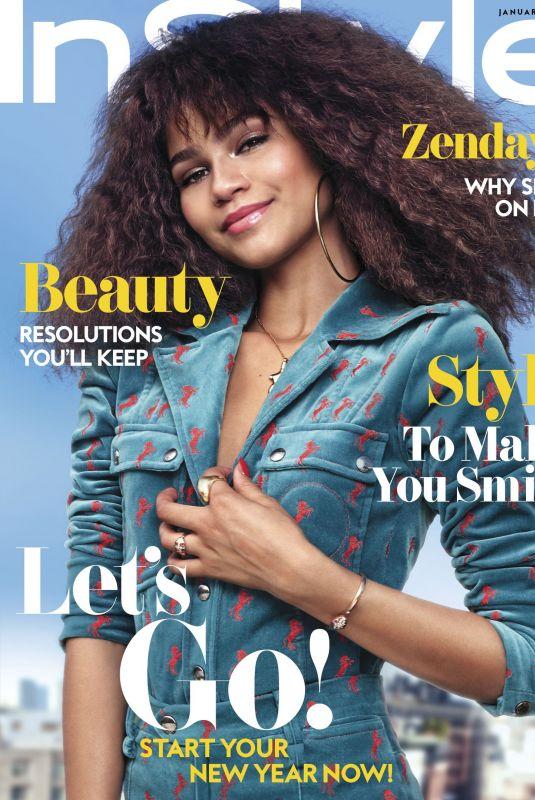 ZENDAYA COLEMAN for Instyle Magazine, January 2018