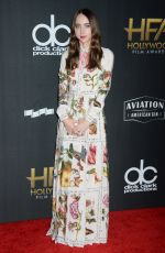 ZOE KAZAN at 2017 Hollywood Film Awards in Beverly Hills 11/05/2017