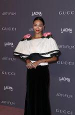 ZOE SALDANA at 2017 LACMA Art + Film Gala in Los Angeles 11/04/2017