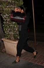 ZOE SALDANA Leaves Madeo Restaurant in West Hollywood 11/16/2017