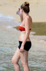 ZOE SALMON in Bikini at a Beach in Barbados 11/05/2017