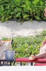 ABBY CHAMPION and Patrick Schwarzenegger at a Beach in Mexico 12/04/2017