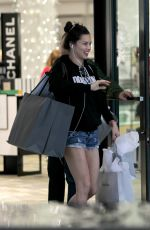 ADRIANA LIMA in Denim Shorts Shopping at Ball Harbor in Miami 12/24/2017