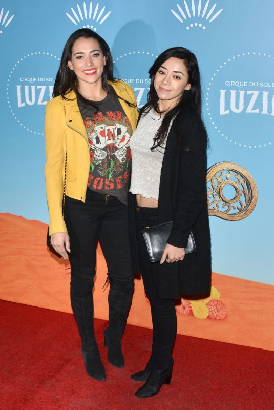 AIMEE GARCIA and NATALIE MARTINEZ at Cirque Du Soleil Presents Luzia at Dodger Stadium in Los Angeles 12/12/2017