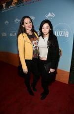 AIMEE GARCIA and NATALIE MARTINEZ at Cirque Du Soleil Presents Luzia at Dodger Stadium in Los Angeles 12/12/2017