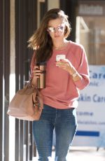 ALESSANDRA AMBROSIO at a Skin Care Center in Brentwood 11/30/2017