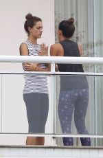 ALESSANDRA AMBROSIO Doing Yoga on Her Balcony in Florianopolis 12/18/2017