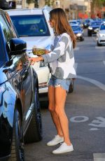 ALESSANDRA AMBROSIO in Cut Off Shorts Out in Los Angeles 12/11/2017