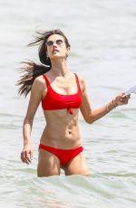 ALESSANDRA AMBROSIO in Red Bikini on the Beach in Florianopolis 12/17/2017