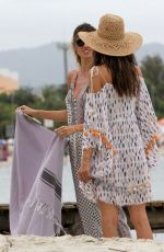 ALESSANDRA AMBROSIO Out at Jurere Beach in Florianopolis 12/27/2017