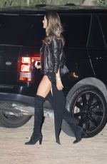ALESSANDRA AMBROSIO Out for Dinner in Malibu 12/08/2017