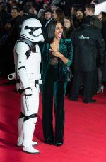 ALEXANDRA BURKE at Star Wars: The Last Jedi Premiere in London 12/12/2017