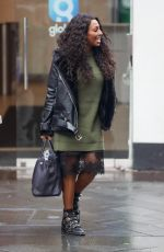 ALEXANDRA BURKE Leaves Global Radio Studios in London 12/20/2017
