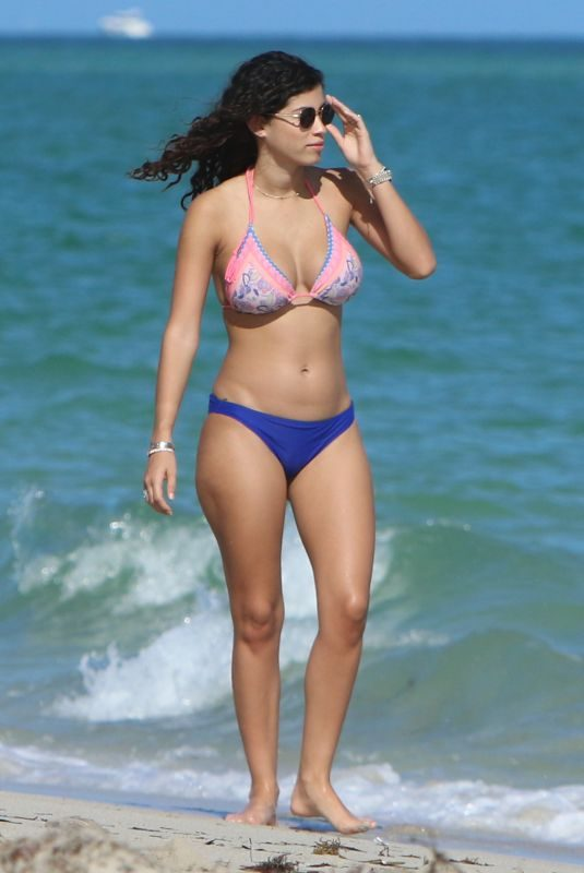 ALEXANDRA RODRIGUEZ in Bikini on the Beach in Miami 12/07/2107