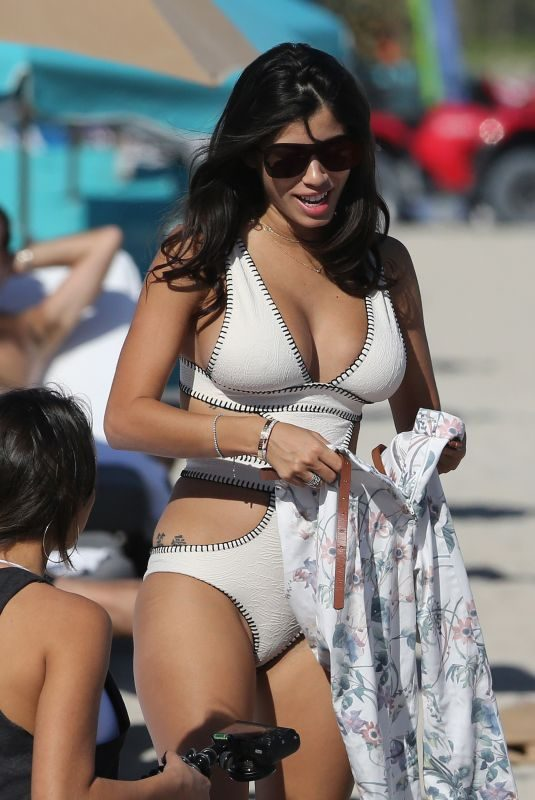 ALEXANDRA RODRIGUEZ in Swimsuit at a Beach in Miami 12/15/2017