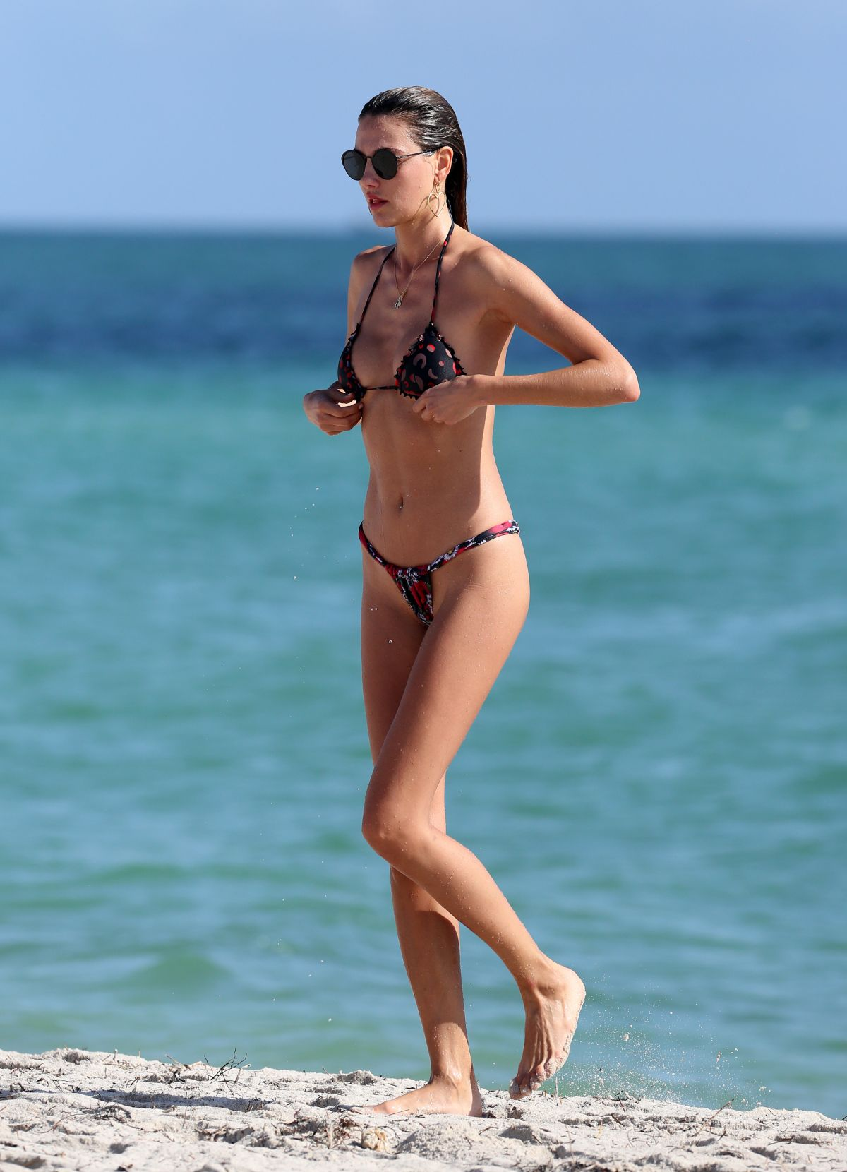 Alina Baikova in Bikini on the beach in Miami Pic 15 of 35