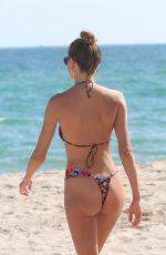 ALINA BAIKOVA in Bikini at a Beach in Miami 12/08/2017