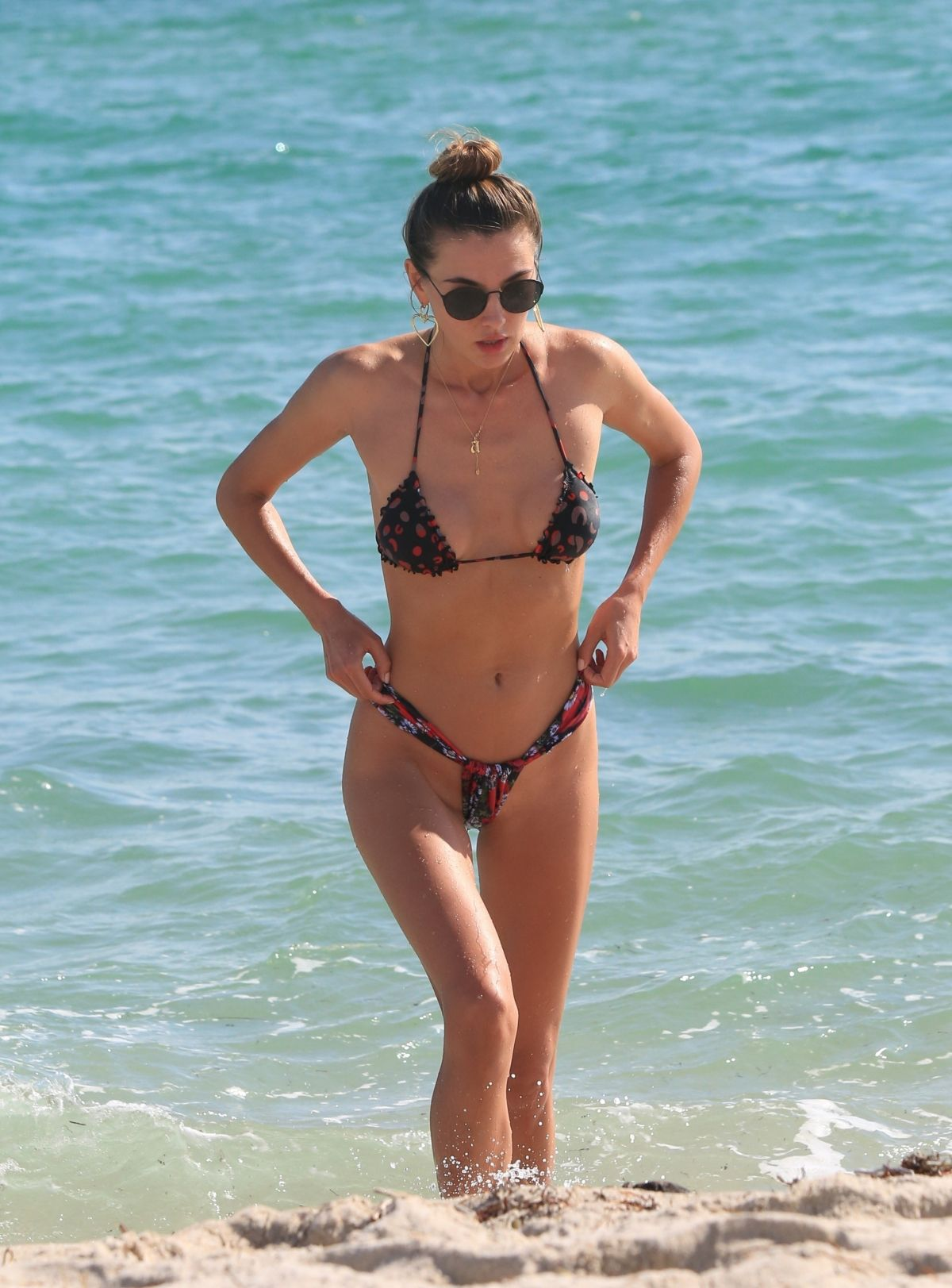 Alina Baikova in Bikini on the beach in Miami Pics 10 of 35