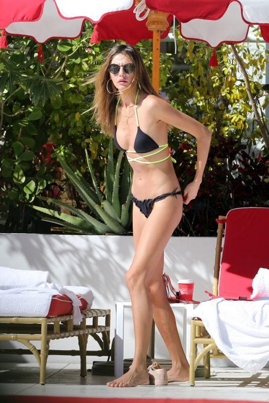 ALINA BAIKOVA in Bikini at a Pool in Miami 12/10/2017