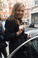 ALLISON JANNEY Leaves BBC Radio 2 in London 12/14/2017