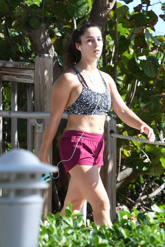 ALY RAISMAN Out and About in Miami Beach 12/07/2017