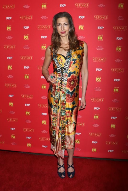ALYSIA REINER at The Assassination of Gianni Versace: American Crime Story Premiere in New York 12/11/2017