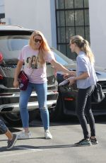 AMANDA SEYFRIED and BUSY PHILIPPS Out for Lunch in West Hollywood 12/14/2017