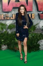 AMBER DAVIES at Jumanji: Welcome to the Jungle Premiere in London 12/07/2017