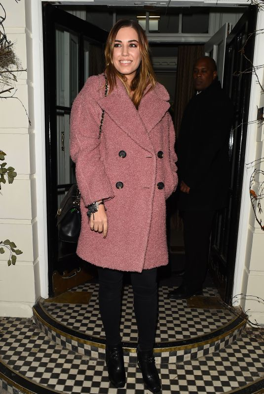 AMBER LE BON at Chez Moi Christmas Special in London 12/19/2017