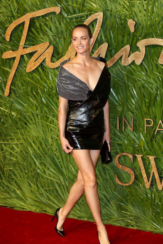 AMBER VALLETTA at British Fashion Awards 2017 in London 12/04/2017