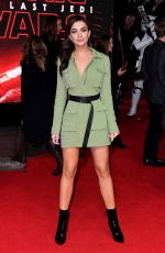 AMY JACKSON at Star wars: The Last Jedi Premiere in London  12/12/2017