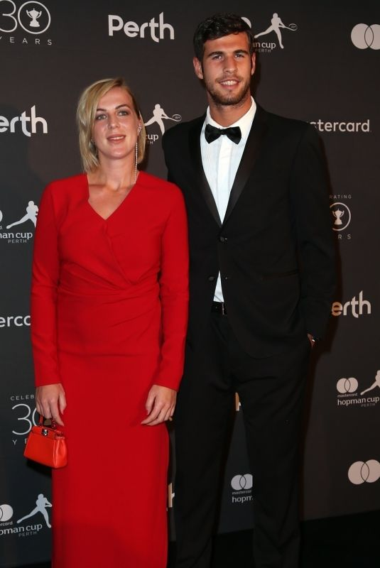 ANASTASIA PAVLYUCHENKOVA and Karen Khachanov at Hopman Cup New Years Eve Players Ball in Perth 12/31/2017