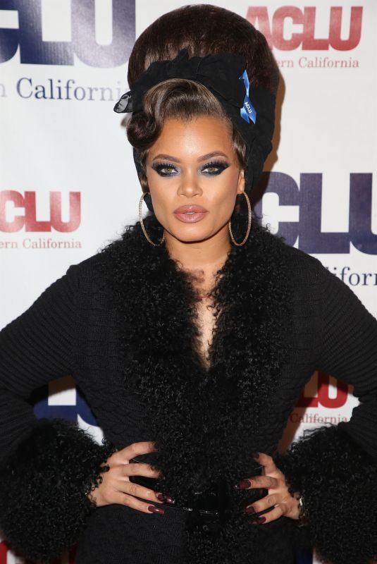 ANDRA DAY at Aclu Socal's Annual Bill of Rights Dinner in Los Angeles 12/03/2017