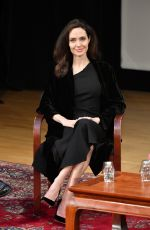 ANGELINA JOLIE at Light After Darkness Memory, Resilience and Renewal in Cambodia Discussion at Asia Society in New York 12/14/2017