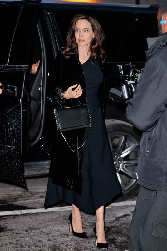 ANGELINA JOLIE Out and About in New York 12/14/2017