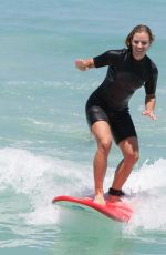 ANGELIQUE KERBER Surfing at Trigg Beach in Perth 12/30/2017