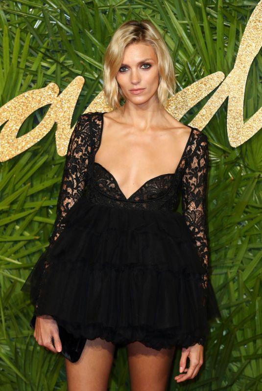 ANJA RUBIK at British Fashion Awards 2017 in London 12/04/2017