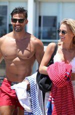 ANNA HEINRICH and Tim Robards at Bondi Beach in Sydney 12/27/2017