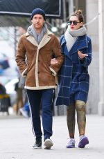 ANNE HATHAWAY and Adam Shulman Heading to a Gym in New York 12/06/2017