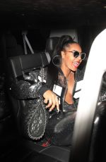 ASHANTI Arrives at a Party at Delilah in West Hollywood 12/17/2017