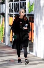 ASHLEE SIMPSON Arrives Tracy Anderson Gym in Studio City 12/04/2017
